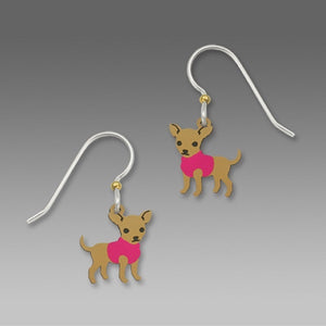 Sienna Sky Pink Chihuahua Earrings