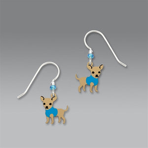 Sienna Sky Blue Chihuahua Earrings