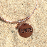 Lewes Delaware Beach Bangle, Rose Gold, Chrysalis