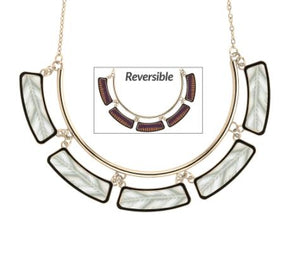 Jilzarah Reversible Cleopatra Collar Necklace