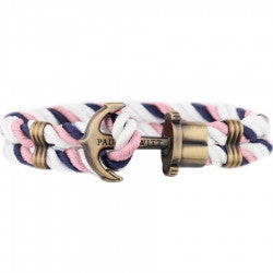 PAUL HEWITT PHREP Anchor Bracelet Navy Blue - Light Pink - White