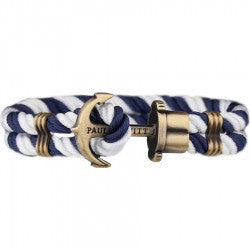 PAUL HEWITT PHREP Anchor Bracelet Navy Blue - White