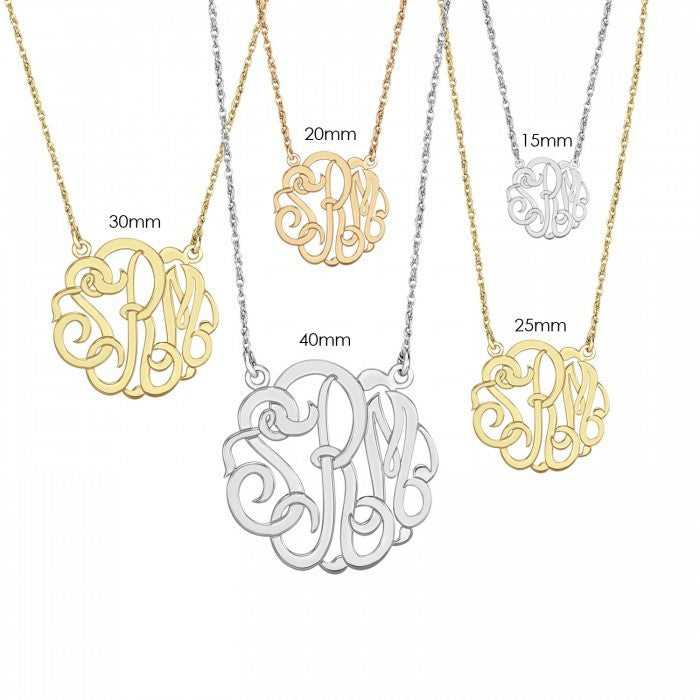 15mm Classic Monogram Necklace