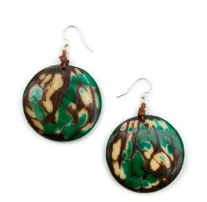 Tagua Green Panecillo Earrings