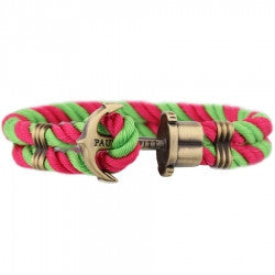 PAUL HEWITT PHREP Anchor Bracelet Pink-Light Green