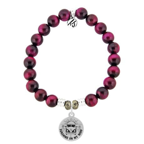 T. Jazelle Pink Tiger's Eye A Journey Bracelet
