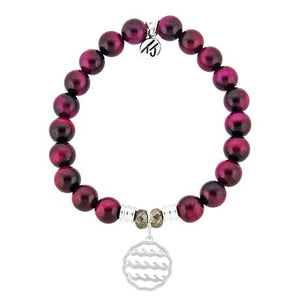 T. Jazelle Pink Tiger's Eye Waves of Life Bracelet