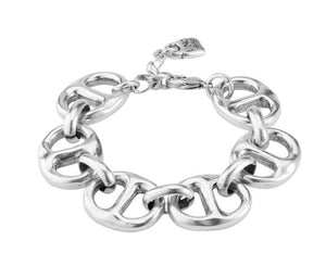 UNO DE 50 link bracelet in silver-plated metal alloy