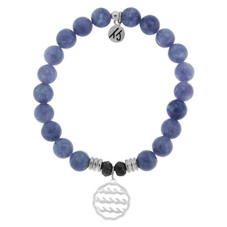 T. Jazelle Purple Jade Waves of Life Bracelet