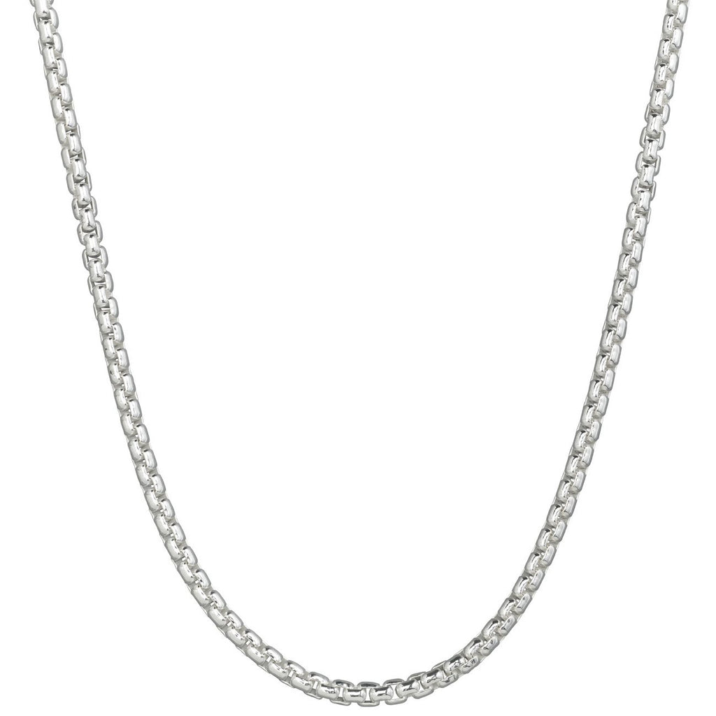 Lola Rounded Box Necklace-16 inch, 2.0mm