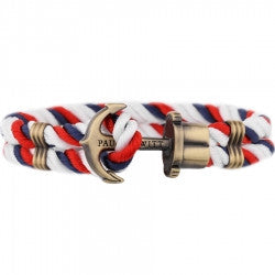 PAUL HEWITT PHREP Anchor Bracelet Red-White-Blue