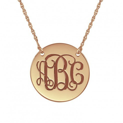 Traditional Monogram Necklace 25mm