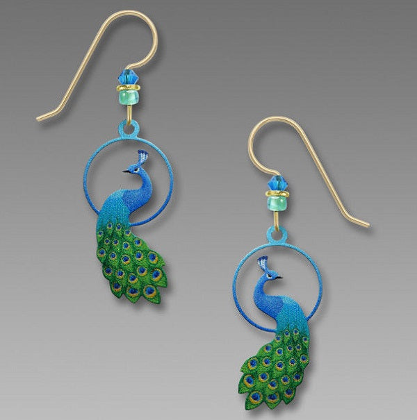Sienna Sky Circle Peacock Earrings