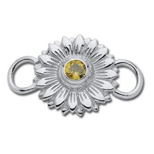 Le Stage Clasp, Sunflower with Yellow CZ