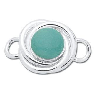 Le Stage Clasp, Love Knot with Amazonite