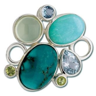 Le Stage Clasp, Rock Garden - Turquoise