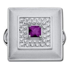 Le Stage Clasp, Square Dance Amethyst