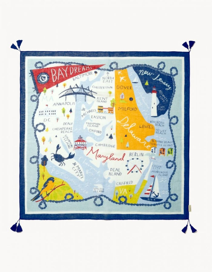 Spartina Bay Dreams Square Scarf
