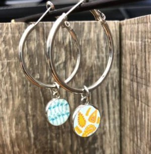Jilzarah Sea Shore Reversible Hoop Earrings