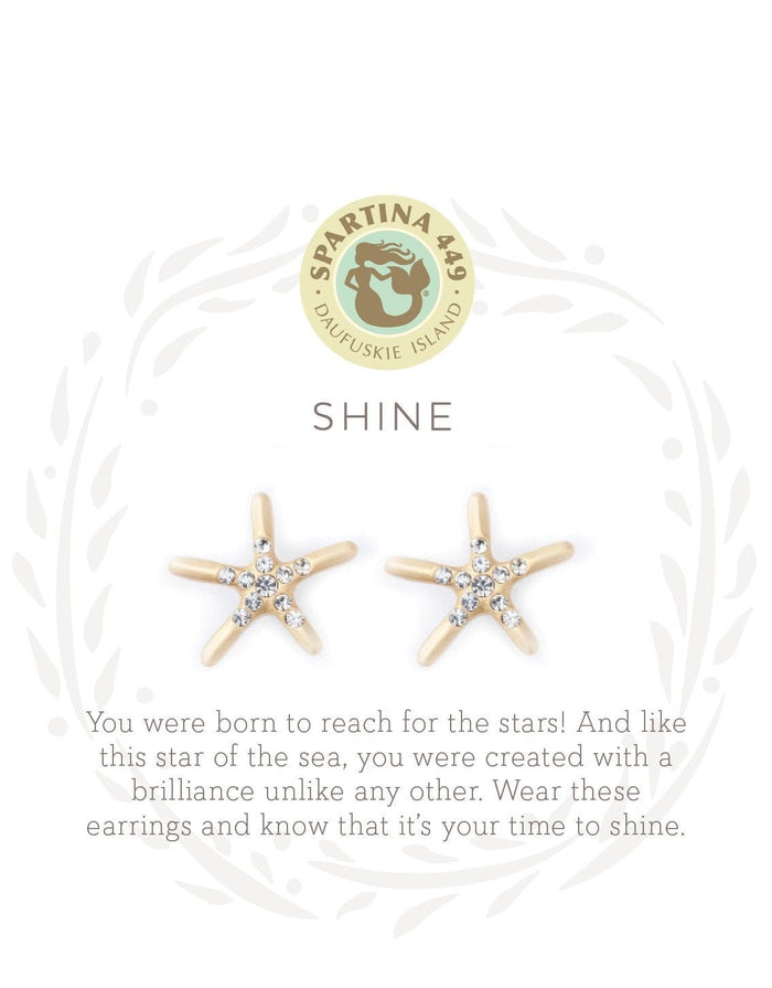 SEA LA VIE SHINE STUD EARRINGS