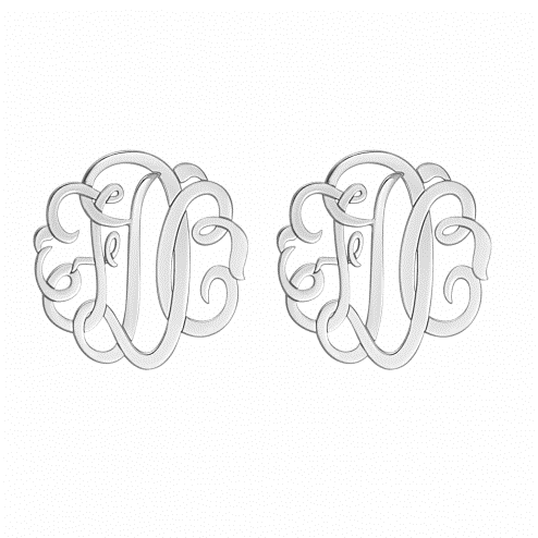 10mm Classic Monogram Stud Earrings