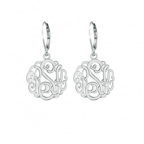 Classic Monogram Leverback Earrings 15mm