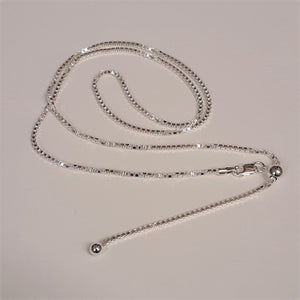 Sterling Silver Adjustable Slide Chain