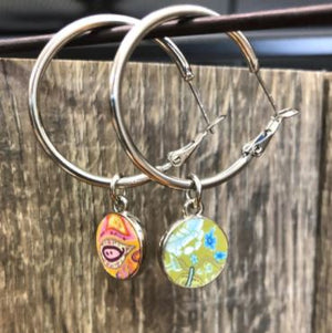 Jilzarah Summer Cottage Reversible Hoop Earrings