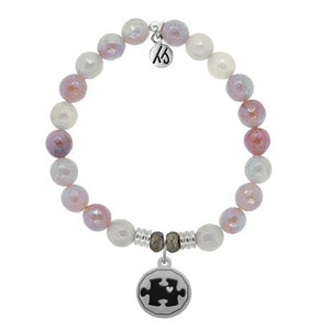 T. Jazelle Sunstone Autism Awareness Bracelet