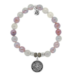 T. Jazelle Sunstone Saint Christopher Bracelet