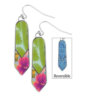 Jilzarah Tahiti Double Arrow Reversible Earrings