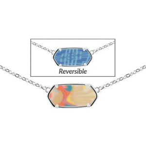 Jilzarah Tahiti Reversible Hexagon Necklace