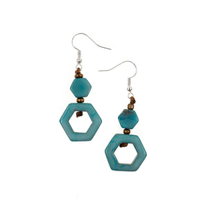 Tagua Tania Earrings Blue