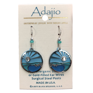 Adajio Ocean Wave Sunrise Earrings