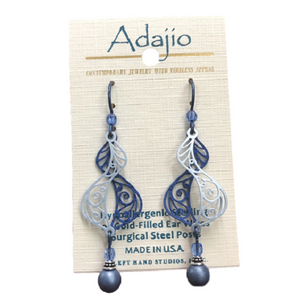 Adajio Blue Infinity Swirls Earrings