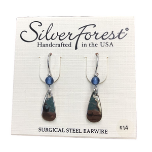 Silver Forest Simple Mirror Drop Earrings