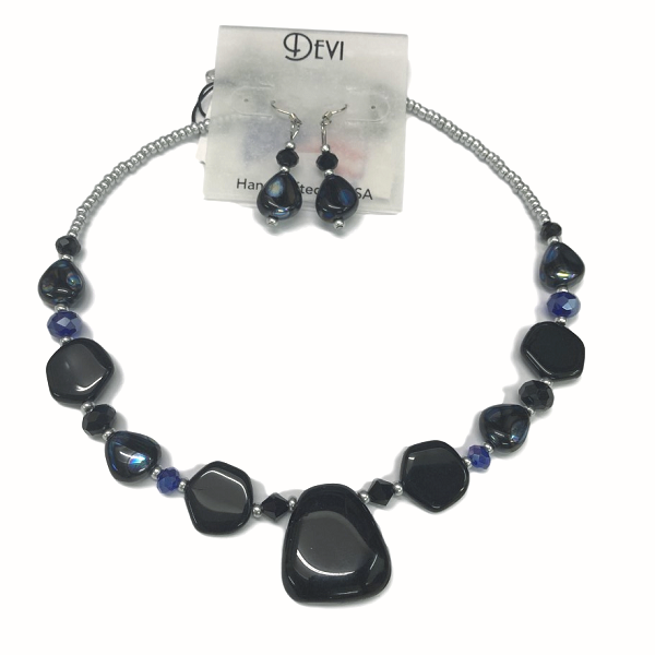 Devi Midnight Sky Necklace and Earring Set