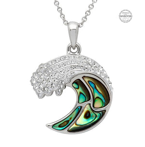 OCEAN ABALONE WAVE NECKLACE
