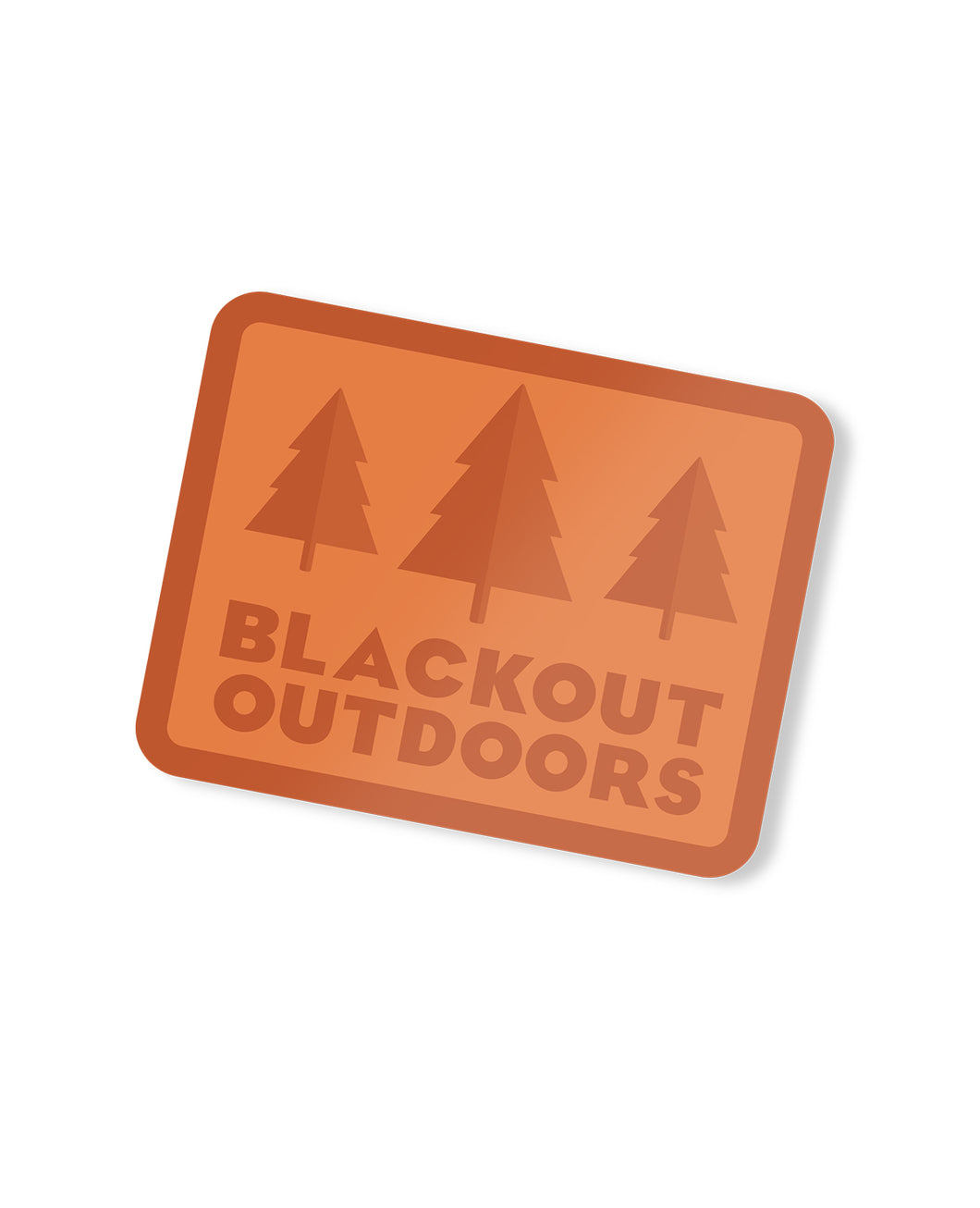 Blackout Outdoors Vintage Sticker