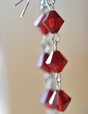 3-Tier Swarovski Crystal Earrings