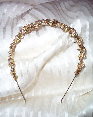 Gold Leaf and Pearl Tiara
