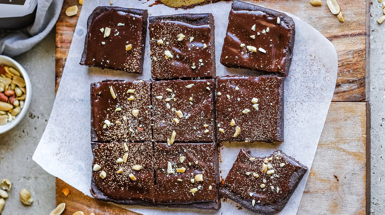 Raw Chocolate Protein Brownies