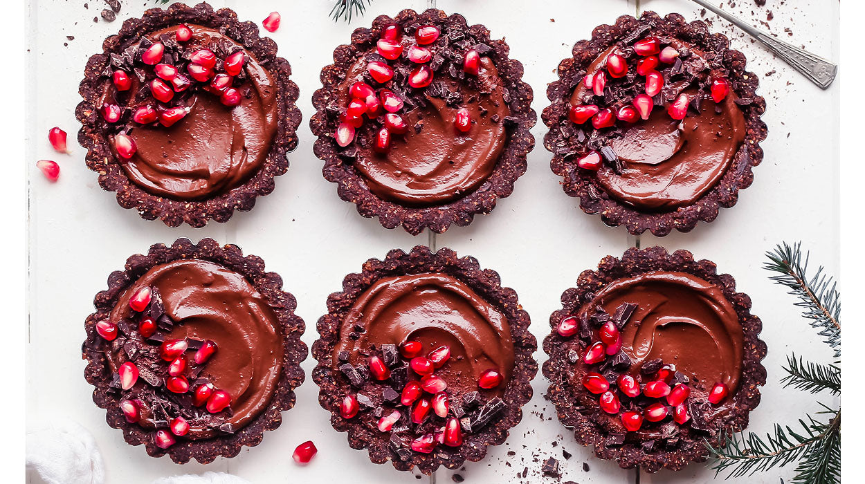 Chocolate & Pomegranate Festive Tarts
