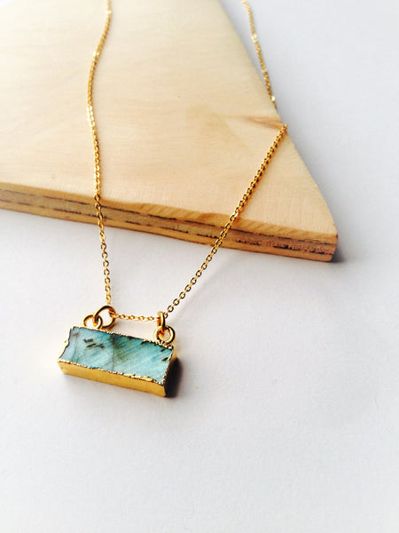 Simple Labradorite Necklace