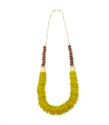 Athena necklace - Chartreuse