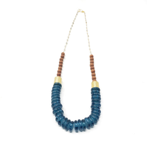 Athena necklace - Blue