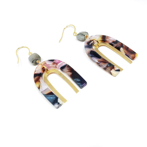 Cannes Acrylic Earrings - Nadi