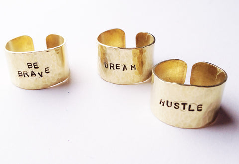 Adjustable Brass Inspiration Ring