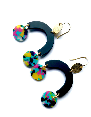 Cannes Acrylic Earrings - Bowie
