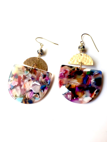 Cannes Acrylic Earrings - multi